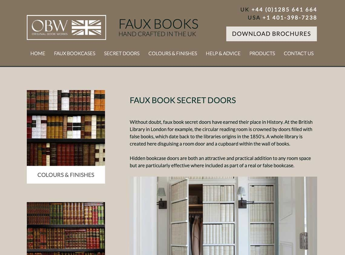 Original book works website