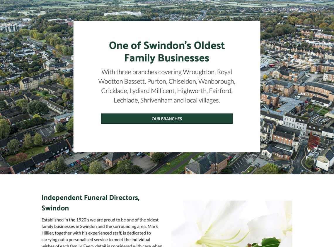 Our work hillier funeral service website