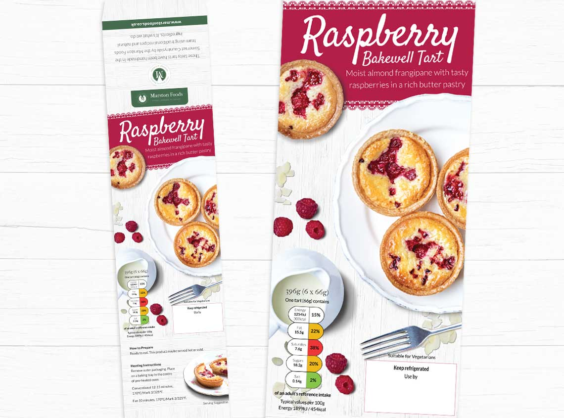 Our work marston foods bakewell tart packaging design