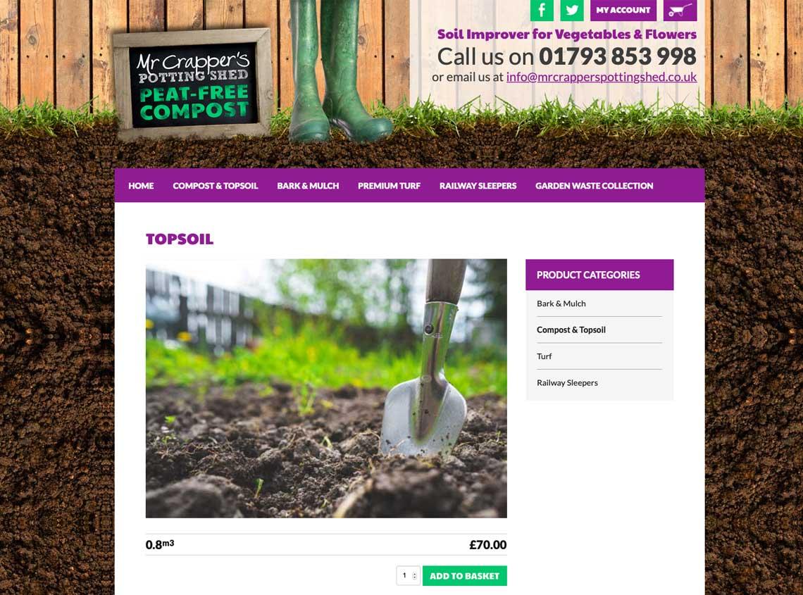 Mr Crappers Potting Shed Website