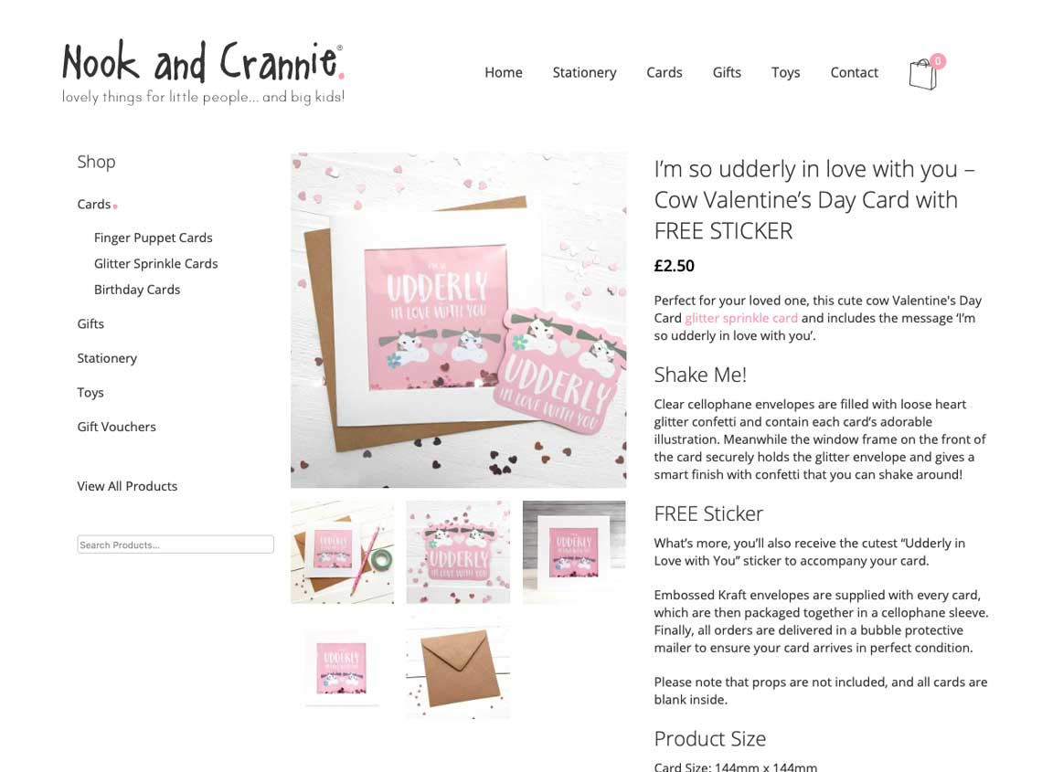 Our work nook and crannie ecommerce website