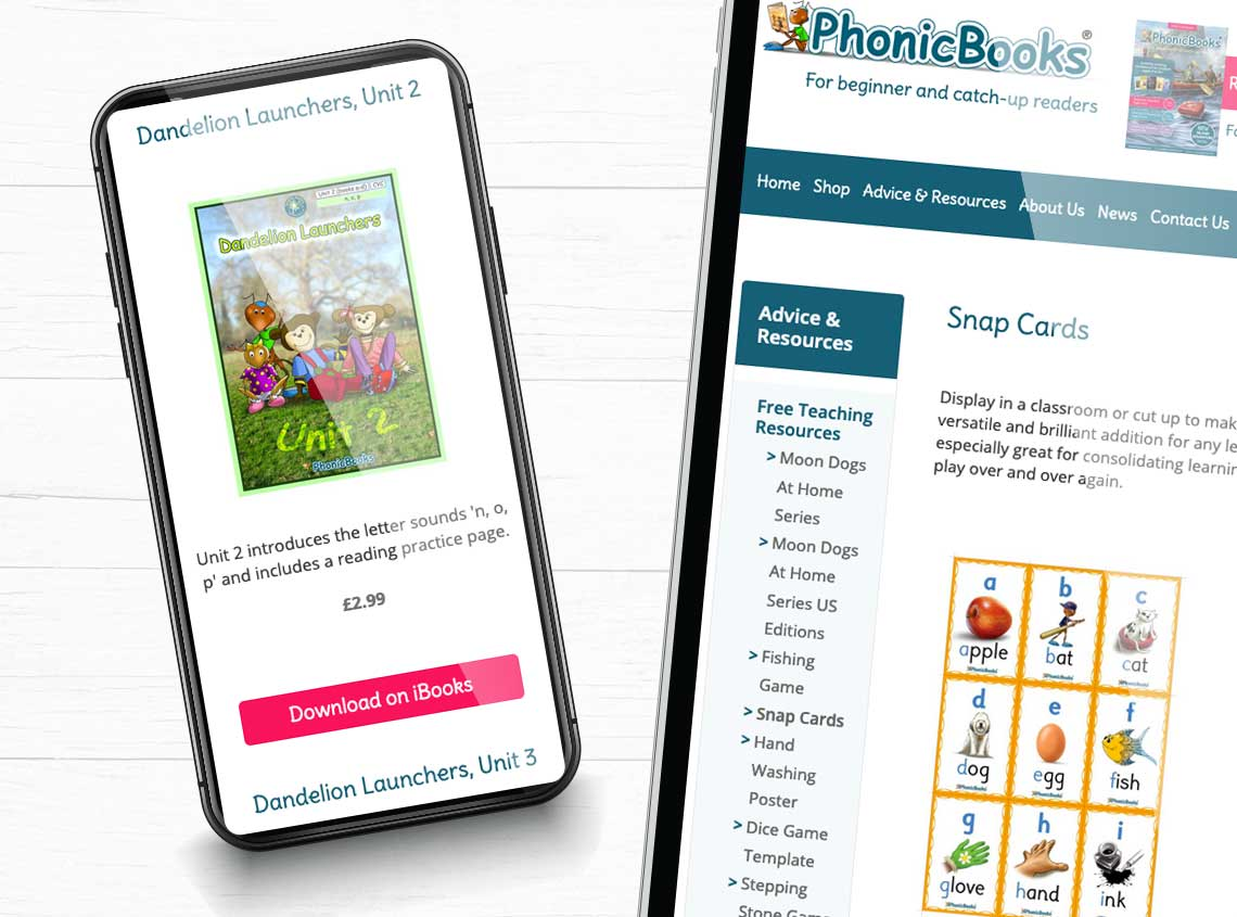Our work phonic books ecommerce website