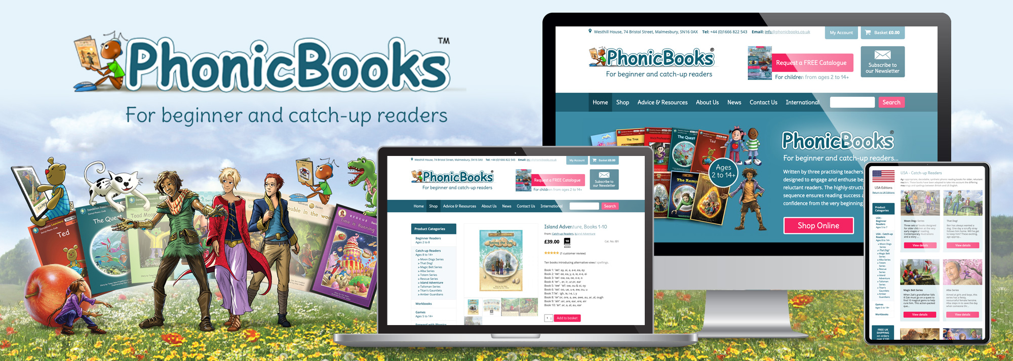 Phonic Books eCommerce Website