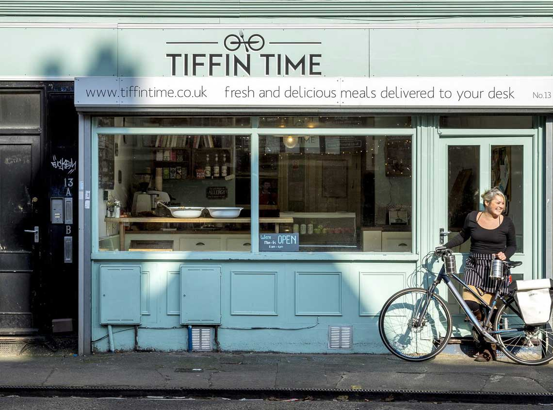Our work tiffin time branding